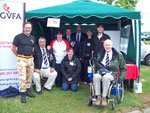 The volunteers at the NGVFA stand