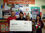 The cheque from Sainsburys Hessle Road