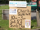 Fundraising sale sign