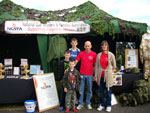 Trevor and family on the NGVFA stand at Cosford Airshow 2010