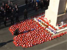 The NGVFA Wreath highlighted on the Cenotaph
