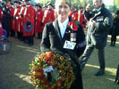 Sandi Jenkinson with the NGVFA Wreath