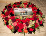 The NGVFA wreath and card