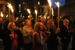 Some of the group with their torches